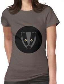 Black Badger Womens Fitted T-Shirt