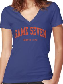 Game Seven Women's Fitted V-Neck T-Shirt