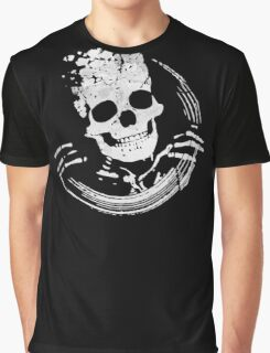 Grunge Skeleton Funny Skull Design Graphic T-Shirt