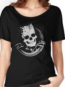 Funny Skull Women's Relaxed Fit T-Shirt