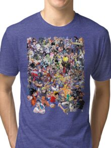 Anime mix - All Animes (Allstar Anime) Tri-blend T-Shirt