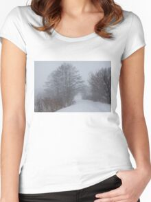 Snowstorm Magic Women's Fitted Scoop T-Shirt