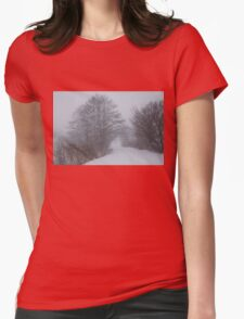 Snowstorm Magic Womens Fitted T-Shirt