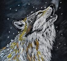 Night song (wolf) by Linda Sparks