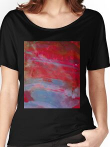 Sunset, Fire Opal, Abstract colourful stone art Women's Relaxed Fit T-Shirt