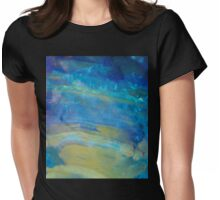 Sunrise Fire Opal, Abstract colourful stone art Womens Fitted T-Shirt