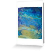 Sunrise Fire Opal, Abstract colourful stone art Greeting Card