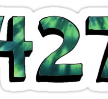 04274 zip tie dye Sticker