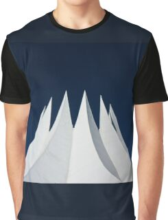 White volcano Graphic T-Shirt