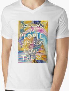 Love People Mens V-Neck T-Shirt