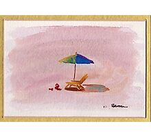 A Place to Relax - watercolor painting at Carpenteria Photographic Print