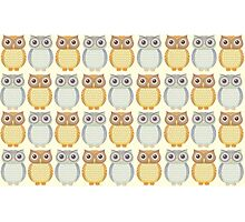 Owls Pattern Photographic Print