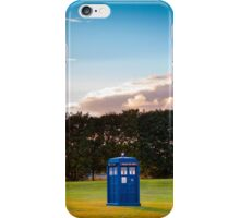The TARDIS & sunset iPhone Case/Skin