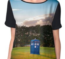 The TARDIS & sunset Chiffon Top