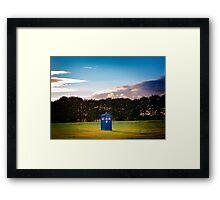 The TARDIS & sunset Framed Print