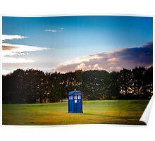 The TARDIS & sunset Poster