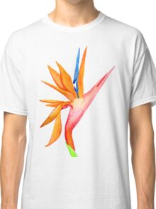 Handpainted Birds of Paradise Flower Classic T-Shirt