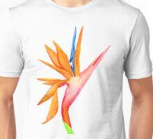 Handpainted Birds of Paradise Flower Unisex T-Shirt
