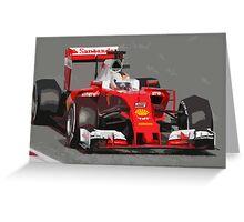Ferrari F1 2016 Vettel's car Greeting Card