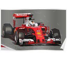 Ferrari F1 2016 Vettel's car Poster