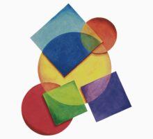 Candy Rainbow Geometric Baby Tee