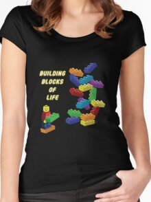 Building Blocks of Life - Legos Women's Fitted Scoop T-Shirt