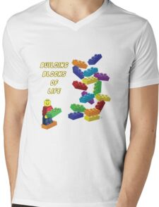 Building Blocks of Life - Legos Mens V-Neck T-Shirt
