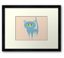 PURRING CAT Framed Print