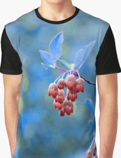 Red Bells on Blue Graphic T-Shirt