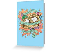 Friends, Waffles, Work. (Parks and Rec) Greeting Card
