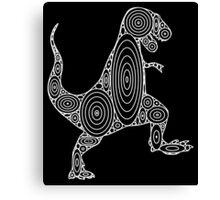 Tyrannosaurus Circles Canvas Print