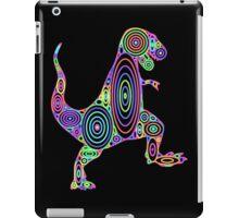 Colorful Tyrannosaurus Circles iPad Case/Skin