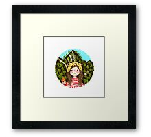 Girl and the elf of the forest Framed Print