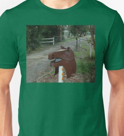 Horse Head Letterbox, Victoria, Australia Unisex T-Shirt