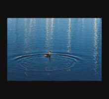 Ripples and Circles – Red-Necked Grebe Baby Tee