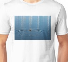 Ripples and Circles – Red-Necked Grebe Unisex T-Shirt