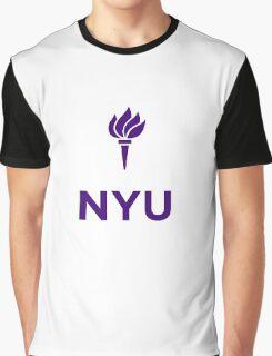 New York University Logo Graphic T-Shirt
