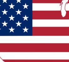 Flag Map of USA  Sticker