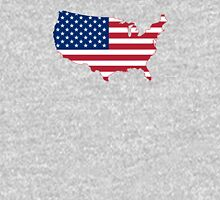 Flag Map of USA  Unisex T-Shirt