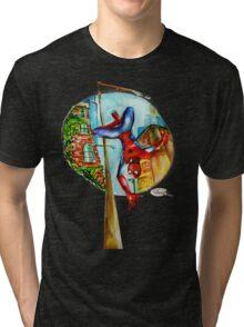Just Swining! Spidey  Tri-blend T-Shirt