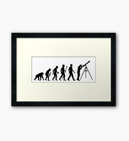 Funny Evolution of Astronomy Framed Print