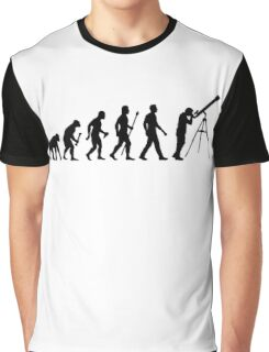 Funny Evolution of Astronomy Graphic T-Shirt