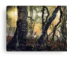 Dewey Dawn Wandering In Wistful Woods Canvas Print