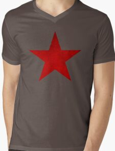 VINTAGE RED ARMY SOVIET STAR USSR WW2 T34 TANK Mens V-Neck T-Shirt