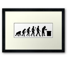 Funny Beekeeping Evolution Framed Print