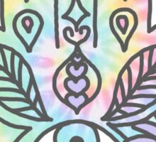 Tie Dye Pastel Neon Flower Crown Hamsa Yin Yang Trendy Hippie Print Sticker