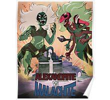 Alexandrite VS Malachite Poster