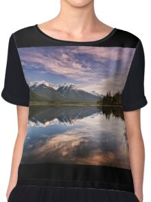 Sunset At The Vermilion Lakes Chiffon Top