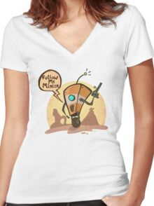 Follow me minion Women's Fitted V-Neck T-Shirt
