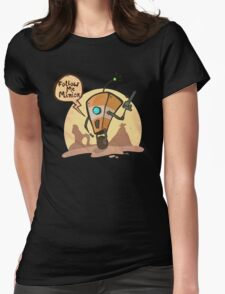 Follow me minion Womens Fitted T-Shirt